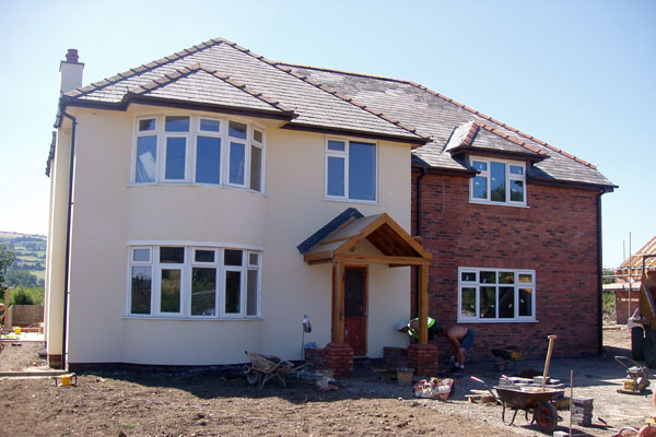 Exterior of new build home in North Wales
